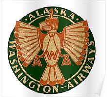 Alaska Washington Airlines Poster