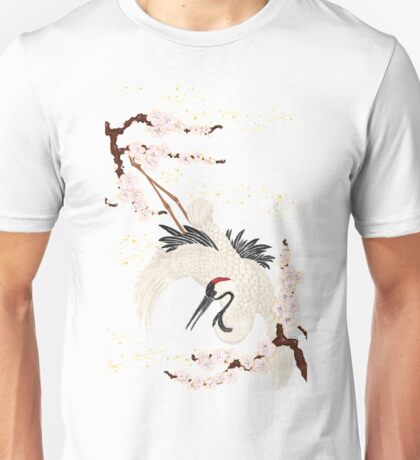 Japanese Crane Unisex T-Shirt