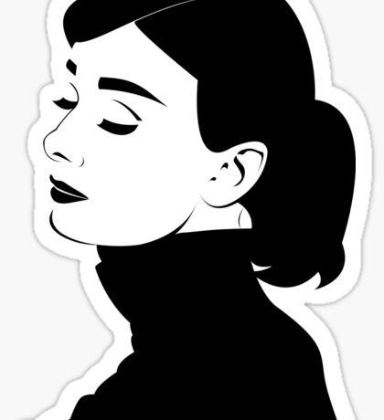 Audrey Hepburn: Graphic Interpretation Sticker