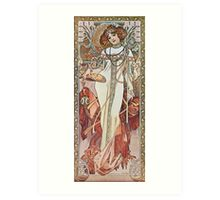 Alphonse Mucha - Pagp Automneautumn Art Print
