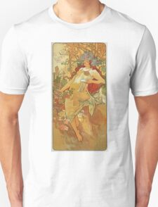 Alphonse Mucha - Autumn 1896 Unisex T-Shirt