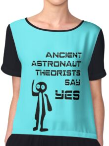 Ancient Aliens - Ancient Astronaut Theorists Say Yes Nazca Lines Chiffon Top
