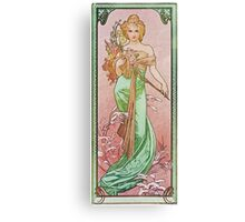 Alphonse Mucha - Printempsspring Canvas Print