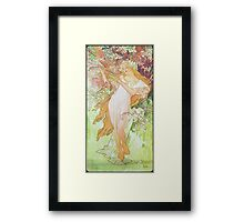 Alphonse Mucha - Printempsspring 2 Framed Print