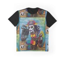 Pirate Girl - Surfs Up Graphic T-Shirt