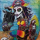 Pirate Girl - Surfs Up by Laura Barbosa