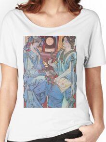Alphonse Mucha - Benedictine Women's Relaxed Fit T-Shirt