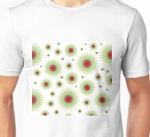 Mandala pattern in green and red Unisex T-Shirt