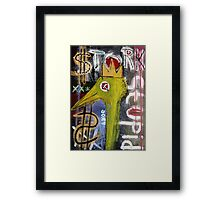 Untitled (stork stupid) Framed Print