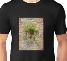 Wicker Basket On Brick Unisex T-Shirt