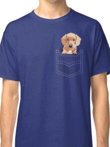 Daschund in a pocket Classic T-Shirt