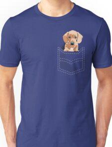 Daschund in a pocket Unisex T-Shirt
