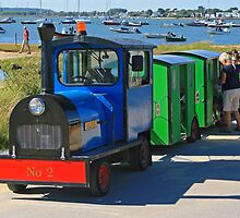 Hengistbury Head Land Train by RedHillDigital