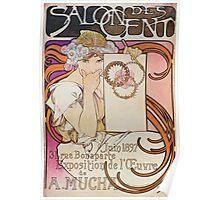 Alphonse Mucha - Salon Des Cent Poster
