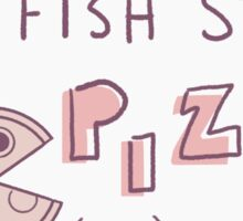 fish stew pizza business card Sticker
