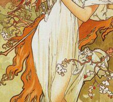 Alphonse Mucha - Spring 1896 Sticker