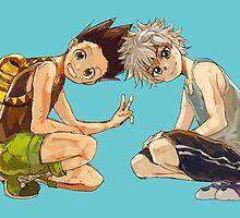HxH - Gon & Killua by banafria