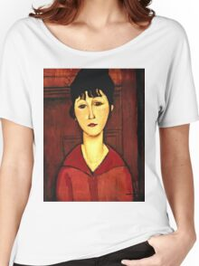 Amedeo Modigliani - Head Of A Young Girl  Women's Relaxed Fit T-Shirt