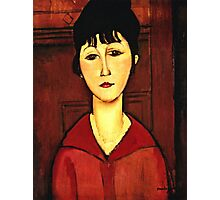 Amedeo Modigliani - Head Of A Young Girl  Photographic Print