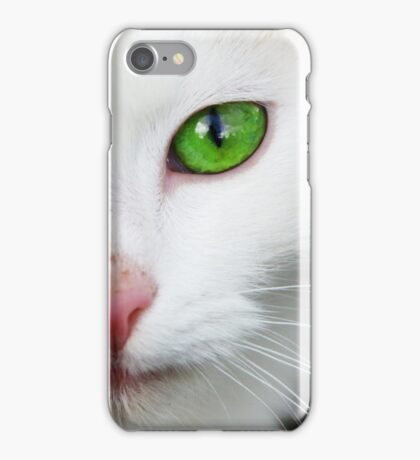 Green Eyed Kitty iPhone Case/Skin