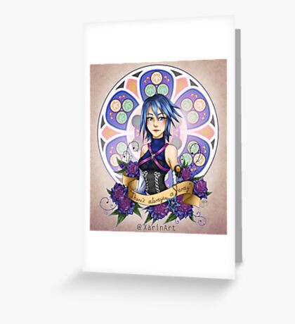 Aqua - There's always a way Greeting Card