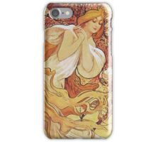 Alphonse Mucha - Chocolat Massonchocolat Mexicain Spring iPhone Case/Skin