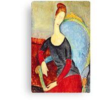 Amedeo Modigliani - Mme Hebuterne In A Blue Chair  Canvas Print