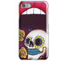 Mouth Full Of Sugar Skull iPhone Case/Skin