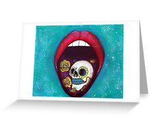 Mouth Full Of Sugar Skull Greeting Card