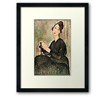 Amedeo Modigliani - Portrait Of Dedie Hayden  Framed Print