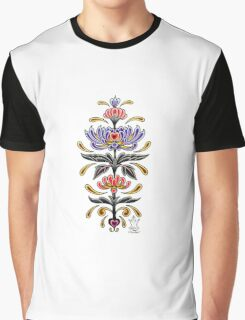Mark C. Merchant original, hand drawn, tattoo inspired, floral design  Graphic T-Shirt