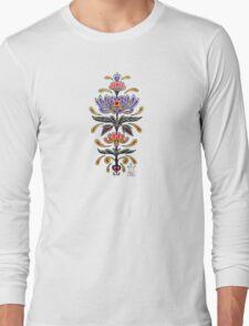 Mark C. Merchant original, hand drawn, tattoo inspired, floral design  Long Sleeve T-Shirt