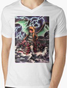 Dragonite Pokemon Master Mens V-Neck T-Shirt