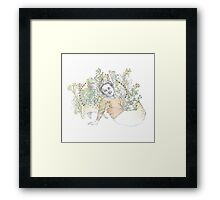 Aunt Betty in Repose Framed Print