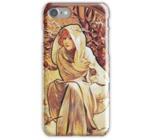 Alphonse Mucha - Chocolat Massonchocolat Mexicain Winter iPhone Case/Skin