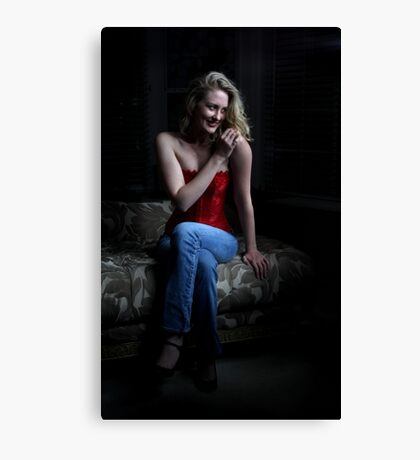 Sexy Blond Sitting Canvas Print