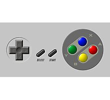 SNES Controller Photographic Print