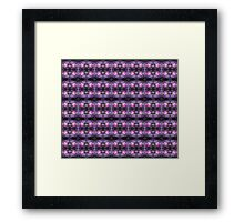 Old fashioned pink rose, purple texture pattern Framed Print