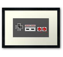 NES Buttons Framed Print