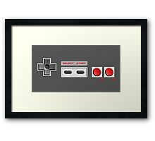 NES Buttons Framed Print