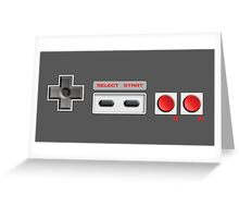 NES Buttons Greeting Card
