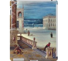 High Quality Restored Hendrick van Steenwyck the Younger - The Courtyard of a Renaissance Palace by LarcenIII iPad Case/Skin