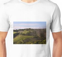 Etruscan Road, La Foce, Val D'Orcia, Tuscany, Italy Unisex T-Shirt