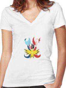 Team Mystic Team Valor Team Instinct Women's Fitted V-Neck T-Shirt
