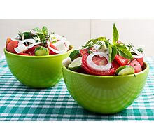 Two portions of useful vegetarian meal Photographic Print