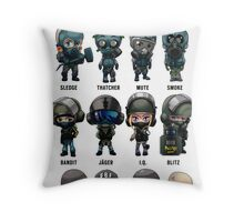Full Chibi Operator poster for Rainbow 6 Siege Throw Pillow