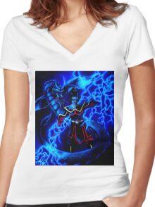 Azula - Avatar The Last Airbender - Dark Women's Fitted V-Neck T-Shirt