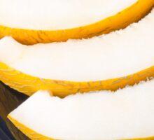 Dessert of sweet yellow melon slices Sticker