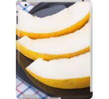 Dessert of sweet yellow melon slices iPad Case/Skin