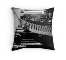 Writing Machine #1 B/W Throw Pillow